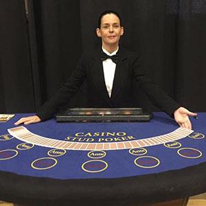 Edinburgh Fun Casino Stud Poker Table