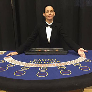 Edinburgh Fun Casino Stud Poker Table